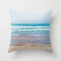 beach pillow Throw Pillow by Tanya Harrison Photography