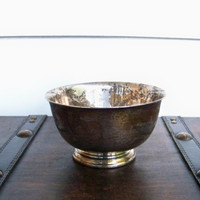 Silver Serving Bowl Small by EraGlassCo on Etsy
