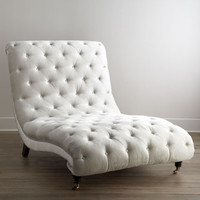 Haute House Tufted Silver Chaise