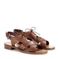 miu miu - aviator leather sandals