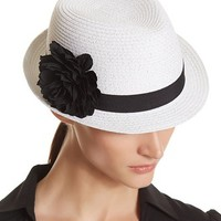 White House | Black Market White Flower Fedora