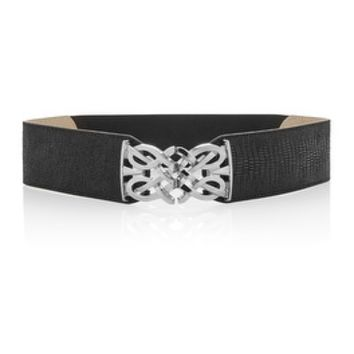 White House | Black Market Snake Embossed Stretch Belt
