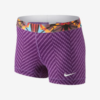 "Nike Pro Core 3"" Zigzag Women's Shorts - Bright Grape"