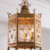 Golden Lantern Pendant Lights - Horchow