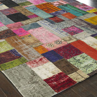 &quot;Mona&quot; Patchwork Rug - Horchow