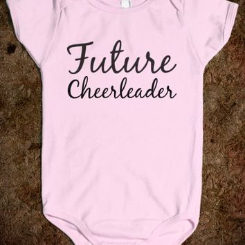 FUTURE CHEERLEADER BABY ONE PIECE
