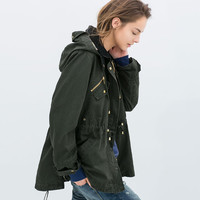 OILED COTTON PARKA