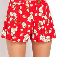 Darling Daisy Print Shorts