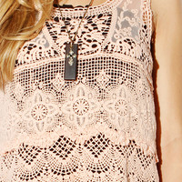 Papaya Clothing Online :: BOHEMIAN GIRLISH CROCHETED TOP