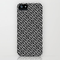 Rounded Holes Metallic Pattern iPhone & iPod Case by Danflcreativo