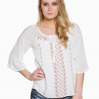 URBAN DAY AZTEC PEASANT TOP