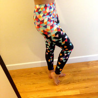 Black Neon Leggings - Black Funfetti Magic Leggings