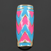 Pink and blue chevron ring