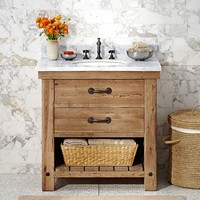 BENCHWRIGHT SINGLE SINK CONSOLE - WAX PINE FINISH