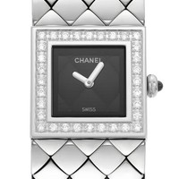Chanel 0.25 CTW Diamond Pave Bezel Swiss Quartz Watch, 9/10 Condition