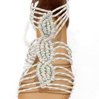 Madden Girl Knots Taupe Multi Strappy Sandals
