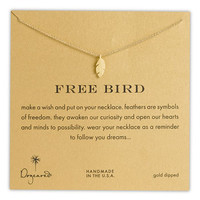 Dogeared 'Reminder - Free Bird' Boxed Feather Necklace | Nordstrom