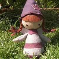 custom Eenie gnome girl plush doll : AnnieOakleaves - ArtFire Dolls & Miniatures