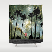 Paradise Galaxy Dream Shower Curtain by RichCaspian