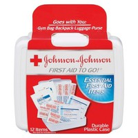 Johnson & Johnson First Aid Kit - 12 Count