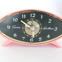 Vintage 1960's Sessions Pink Alarm Clock, Electric Alarm Clock, Love Alarm, Atomic Clock, Girl Bedroom Decor, Teen Collectible