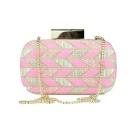 ModeWalk.com: Chevron Weave Hard Clutch by Matthew Williamson