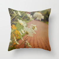 Summer Daisies Throw Pillow by Olivia Joy StClaire