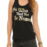 Harry Potter He Who Must Not Be Named Girls Tank Top