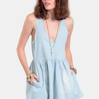 Silver Rebel Chambray Romper By One Teaspoon