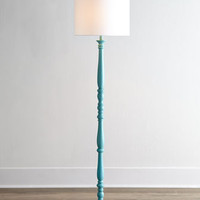 Teal Courtney Floor Lamp