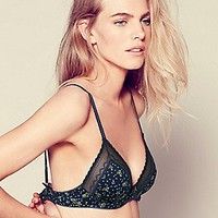 Floral Sweetheart Triangle Bra