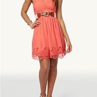 Embroidered Sweetheart Dress