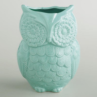Aqua Owl Utensil Crock - World Market