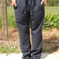 Shelly Linen Pants - VIRGINIA FIELDS