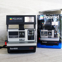 Vintage Polaroid Sun 600 Camera by LetterKay on Etsy