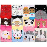 "Angelina ""Best Partner"" Low Cut Socks, ALL NEW DESIGNS, 12 Pairs per Pack, #350"