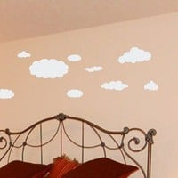 Wall Decal 14 pcs Clouds in the Sky Vinyl by ChuckEByrdWallDecals