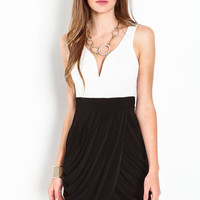 HIGH CONTRAST WRAP DRESS