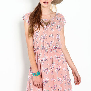 CROCHET BACK FLORAL DRESS