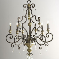 Silver-Leaf Upside-Down Chandelier