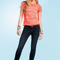 Olivia Ocean Blue Low-Rise Jegging