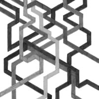 Black and White Metro Art Print by Abstract Graph Designs