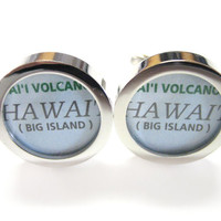 Hawaii Map Cufflinks