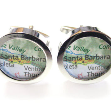 Santa Barbara Map Cufflinks