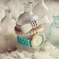 Bohemian Bangles Watch in Mint