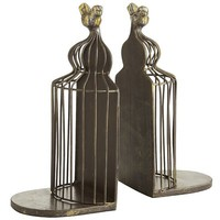 Birdcage Bookend Set