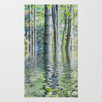 SERENE GREEN SCENE Area & Throw Rug by Catspaws