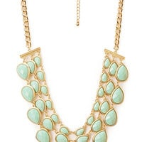 Elegant Teardrop Bib Necklace