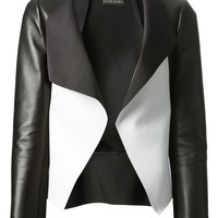 DAVID KOMA paneled monochrome jacket