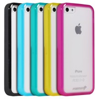 Fosmon HYBO-BUMPER Series PC + TPU Case for Apple iPhone 5C (Black)